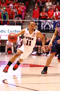 U of U MBB vs Arizona 2-17-2013. Brandon Taylor (11)