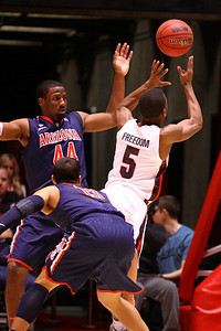 U of U MBB vs Arizona 2-17-2013. Jarred DuBois (5)