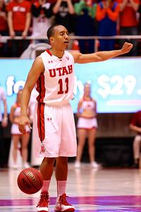 U of U MBB vs Arizona St. 2-13-2013. Brandon Taylor (11)