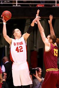 U of U MBB vs Arizona St. 2-13-2013. Jason Washburn (42)