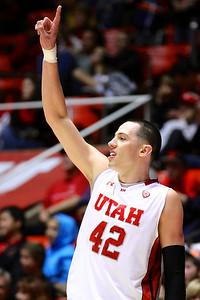 U of U MBB vs Oregon State 3-7-2013. Jason Washburn (42)