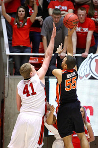 U of U MBB vs Oregon State 3-7-2013. Jeremy Olsen (41)