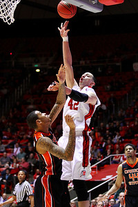 U of U MBB vs Oregon State 3-7-2013. Jason Washburn (42)