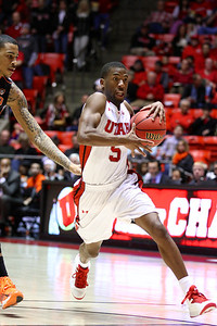 U of U MBB vs Oregon State 3-7-2013. Jarred DuBois (5)