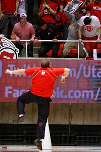 U of U MBB vs Oregon State 3-7-2013. Cheerleaders