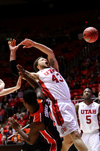 U of U MBB vs Oregon State 3-7-2013. Cedric Martin (43)