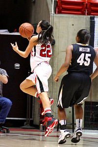U of U WBB vs Colorado 1-13-2012. Danielle Rodriguez (22)