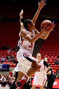U of U WBB vs Colorado 1-13-2012. Iwalani Rodrigues (3)