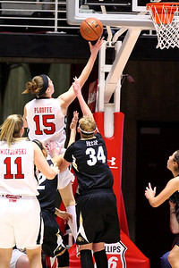 U of U WBB vs Colorado 1-13-2012. Michelle Plouffe (15)