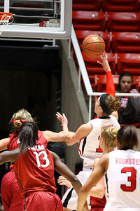 U of U WBB vs Stanford 1-6-2013. Michelle Plouffe (15)