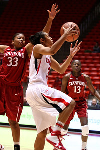 U of U WBB vs Stanford 1-6-2013. Iwalani Rodrigues (3)
