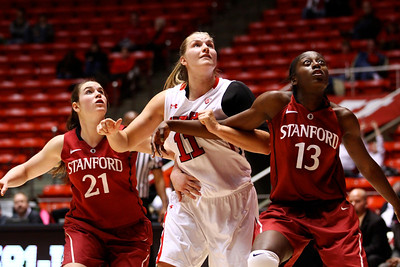U of U WBB vs Stanford 1-6-2013. Taryn Wicijowski (11)