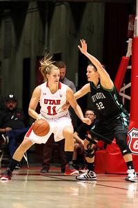 U of U WBB vs North Dakota 12-29-2012. Taryn Wicijowski (11)