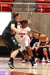 U of U WBB vs North Dakota 12-29-2012. Cheyenne Wilson (5)