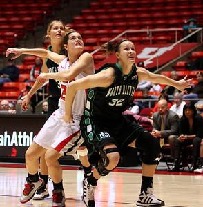 U of U WBB vs North Dakota 12-29-2012. Chelsea Bridgewater (21)