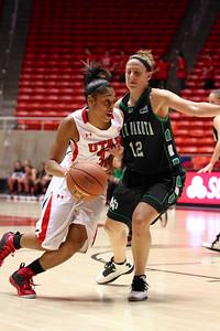 U of U WBB vs North Dakota 12-29-2012. Iwalani Rodrigues (3)