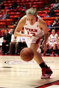 U of U WBB vs North Dakota 12-29-2012. Rachel Messer (13)
