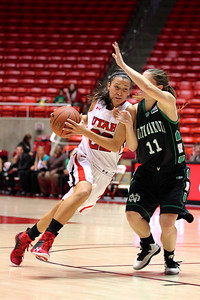 U of U WBB vs North Dakota 12-29-2012. Danielle Rodriguez (22)