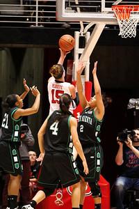 U of U WBB vs North Dakota 12-29-2012. Michelle Plouffe (15)