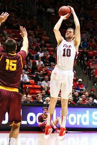 University of Utah - Arizona State Basketball game 02-23-2014. Utes defeat Sun Devils 86-63.