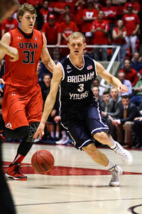 Utah - BYU Men's Basketball 12-14-2013. Utah defeats BYU 81 - 64.
