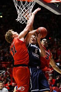 Utah - BYU Men's Basketball 12-14-2013. Utah defeats BYU 81 - 64.