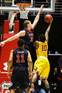 University of Utah Men's Basketball vs USC. 01-16-2014. Utah defeats USC 84-66.
