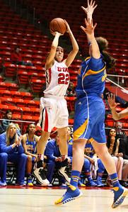University of Utah Women's Basketball vs UCLA. 03-02-2014. Utah loses to UCLA 52-62.