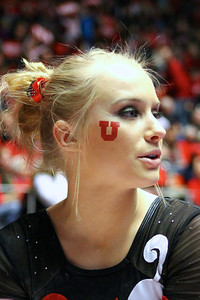 U of U Gymnastics Meet 1-19-2013. Georgia DaBritz