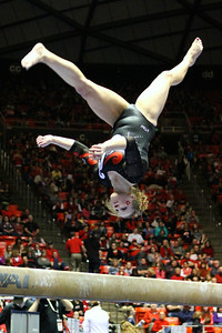 U of U Gymnastics Meet 1-19-2013. Tory Wilson (Beam)
