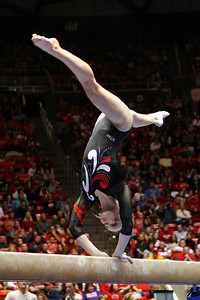U of U Gymnastics Meet 1-19-2013. Georgia DaBritz (Beam)