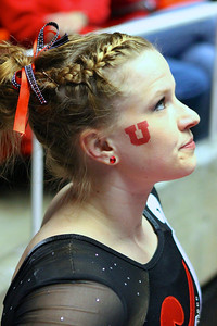 U of U Gymnastics Meet 1-19-2013. Tory Wilson