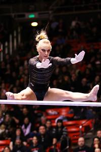U of U Gymnastics vs Stanford 2-23-2013. Georgia Dabritz