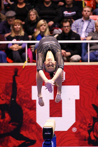 U of U Gymnastics vs Stanford 2-23-2013. Breanna Hughes