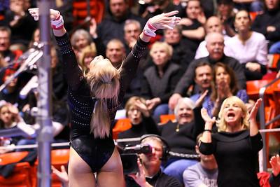 U of U Gymnastics vs Stanford 2-23-2013. Hailee Hansen