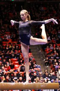 U of U Gymnastics vs Stanford 2-23-2013. Mary Beth Lofgren