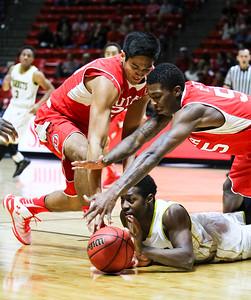 University of Utah Men's Basketball versus Alabama State on 11-29-2014 at the Jon M. Huntsman Center. The Utes defeat the Hornets 93-62.