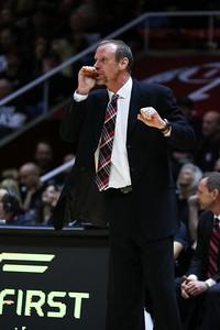 University of Utah Men's Basketball vs Arizona State on 02-26-2015 at the Jon M Huntsman Center. The Utes defeat the Sun Devils 83-41.