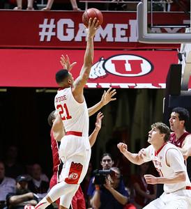 University of Utah Men's Basketball vs Stanford on 02-12-2015 at the Jon M Huntsman Center. The Utes defeat the Cardinal 75-59.