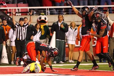 University of Utah Football vs Oregon 11-08-2014 at Rice-Eccles Stadium. Utes lose to the Ducks 27-51.