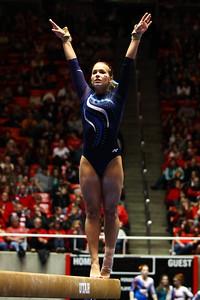 Utah Gymnastics Meet against BYU, SUU and Boise State. 01-11-2014