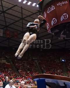 Utah Gymnastics Meet against Georgia 03-15-2014. Red Rocks defeat Washington 198.025-197.600.