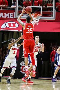 university of Utah Men's Basketball vs Arizona at the Jon M. Huntsman Center on 02-27-2016. The Utes defeat the Wildcats 70-64.  #goutes   #gamedayu  ©2016 Bryan Byerly