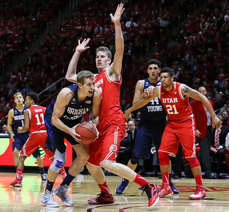 University of Utah Men's Basketball vs BYU at the Jon M. Huntsman Center on 12-02-2015. The Utes defeat the Cougars 83-75.  #goutes   #gamedayu  ©2015 Bryan Byerly
