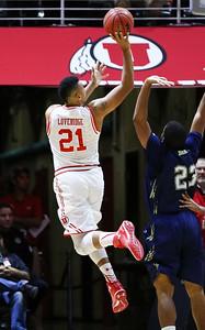 University of Utah Men's Basketball vs Cal State Monterey Bay at the Jon M. Huntsman Center on 11-05-2015. The Utes defeat the Otters 124-70.