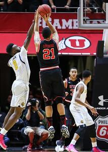 University of Utah Men's Basketball vs California at the Jon M. Huntsman Center on 01-27-2016. The Utes defeat the Golden Bears 73-64.  #goutes   #gamedayu  ©2016 Bryan Byerly