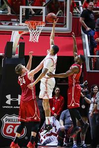 University of Utah Men's Basketball vs Washington State at the Jon M. Huntsman Center on 02-14-2016. The Utes defeat the Cougars 88-47.  #goutes   #gamedayu  ©2016 Bryan Byerly