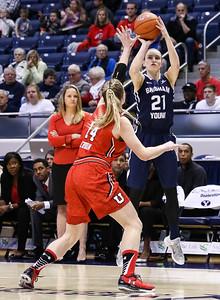 University of Utah vs BYU Women's Basketball at Marriott Center 12-12-2015. BYU beats the Utes 73-59.    ©2015 Bryan Byerly