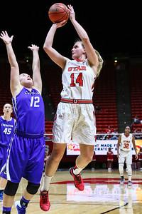 University of Utah Women's Basketball vs Creighton at Jon M. Huntsman Center 12-09-2015. The Lady Utes defeat the Blue Jays 74-58.    ©2015 Bryan Byerly