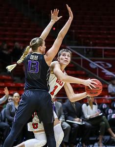 University of Utah Women's Basketball vs Washington at Jon M. Huntsman Center 01-04-2016. The Lady Utes defeat the Huskies 88-83.    ©2016 Bryan Byerly